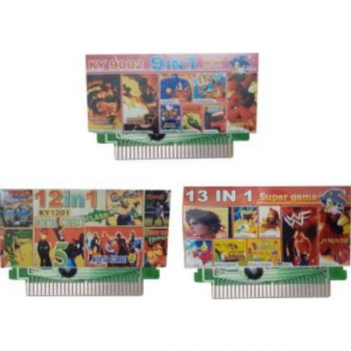 Ptcmart 8 Bit Tv Video Games Cassettes 9 In 1 , 12 In 1 , 13 In 1 Games Are Included