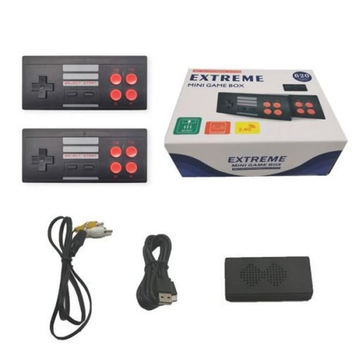 8 Bit Video Game Console And Build In Real 620 Classic Games Dual Players Wirless (PACK OF 1) NA GB with 620 games