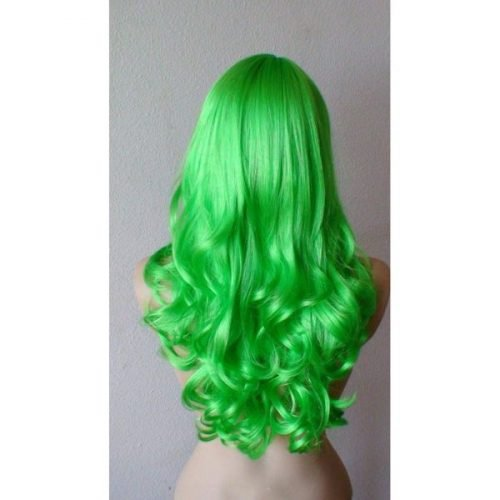 Green Color Synthetic Long Hair Wig &#82...