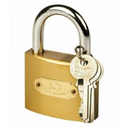 50mm Security and Safety golden Lock set of 1