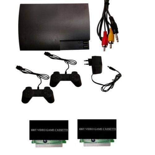 8 Bit Slim Tv Video Game Gaming Console and 2 extra chips