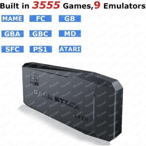 Wireless stick 4K HD video game Console Built in 3500 Games TV Game Console Double wireless Controller For PS1